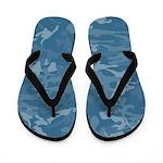 Blue Camouflage Flip Flops