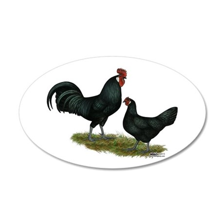 Augsburger Chickens 35x21 Oval Wall Decal