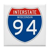 Interstate 94 - WI Tile Coaster