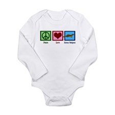 Peace Love Honey Badgers Long Sleeve Infant Bodysu