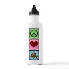 Peace Love Chimps Water Bottle