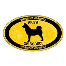 Akita On Board Decal