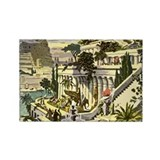 Hanging Gardens of Babylon Rectangle Magnet (10 pa