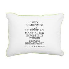 ALICE QUOTE Rectangular Canvas Pillow