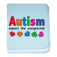 Autism Expect the unexpected baby blanket