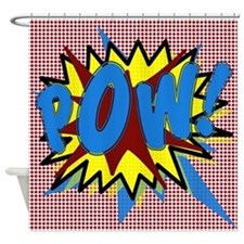POW! Superhero Explosion Shower Curtain