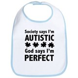 God Says I'm Perfect Bib