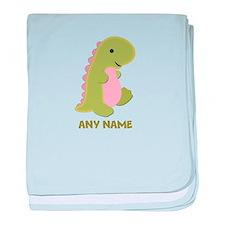 Cute Dinosaur baby baby blanket