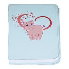 Cute Piggy Art baby blanket
