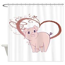 Cute Piggy Art Shower Curtain
