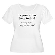 Mom's Bike Dirt Bike Motocross Funny T-Shirt Plus