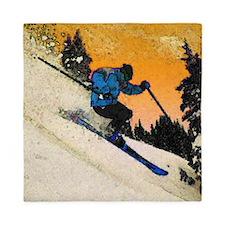 skier1 Queen Duvet