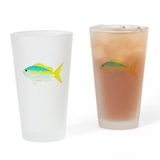Yellowtail Snapper fish Drinking Glass