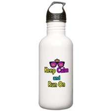 Crown Sunglasses Keep Calm And Run On Water Bottle