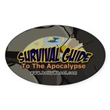 Survival Guide To The Apocalypse Oval Decal