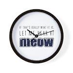 Hear It Meow Wall Clock