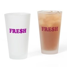 FRE$H Purple Drinking Glass