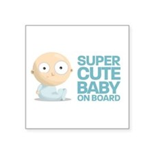Super Cute Baby Rectangle Sticker