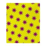 Red Blue Yellow Ditto Crests 47 Designer Throw Bla