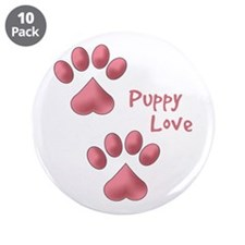 "Puppy Love 3.5"" Button (10 pack)"