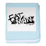 Fat Man Logo baby blanket