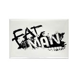 Fat Man Logo Rectangle Magnet