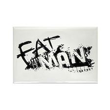 Fat Man Logo Rectangle Magnet