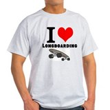 I &amp;lt;3 Longboarding T-Shirt