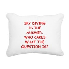 sky diving Rectangular Canvas Pillow
