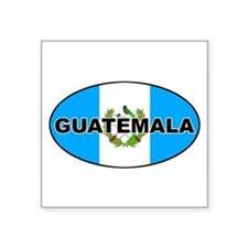 Flag of Guatemala Oval Sticker