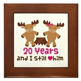 20th Anniversary Moose Framed Tile