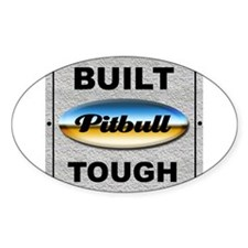 Pitbull Tough Rectangle Decal