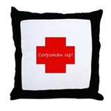 Corpsman Up Cross Throw Pillow