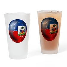 Haiti Soccer Ball Drinking Glass