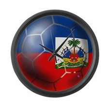 Haiti Soccer Ball Large Wall Clock