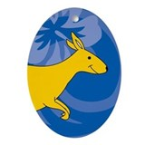 Kangaroo Ornament (Oval)