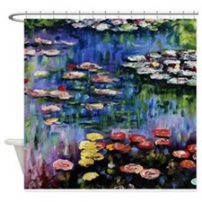 Claude Monet Waterlilies Shower Curtain