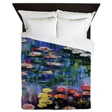 Claude Monet Waterlilies Queen Duvet