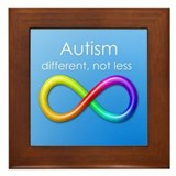 Autism. different, not less Framed Tile