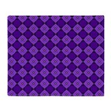 Purple Diamond Pattern Throw Blanket