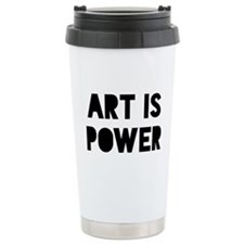 Art Power Ceramic Travel Mug