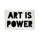 Art Power Rectangle Magnet