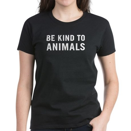 Be Kind Animals Women's Dark T-Shirt