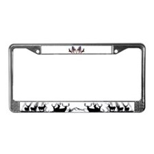Patriotic Whitetail buck License Plate Frame