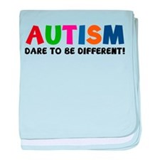Autism Dare To Be Different! baby blanket