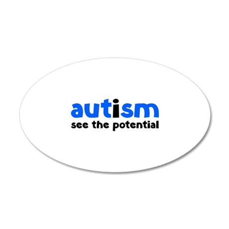 Autism See The Potential 38.5 x 24.5 Oval Wall Pee