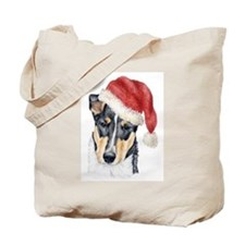 Christmas Collie, short-haired Tote Bag