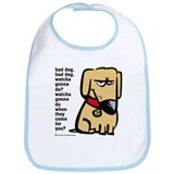 """Bad dog"" Bib"