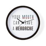 Mouth Headache Wall Clock