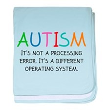 Autism Operating System baby blanket